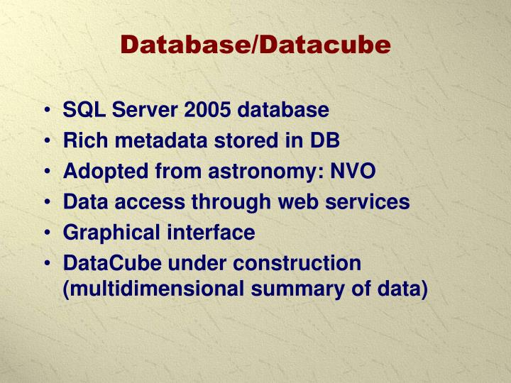 Database/Datacube