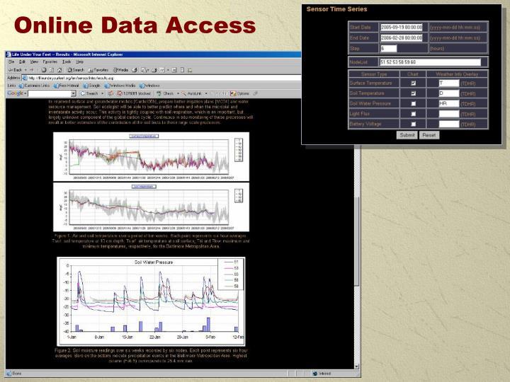 Online Data Access