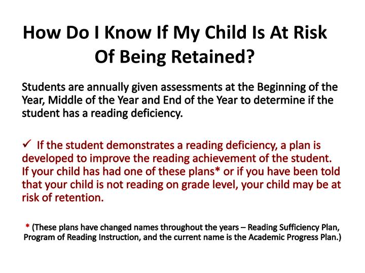 How Do I Know If My Child Is At Risk Of Being Retained?