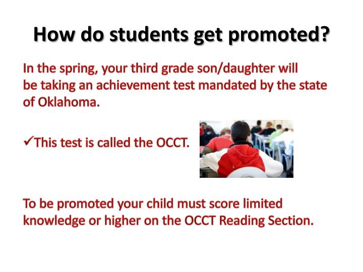 How do students get promoted?