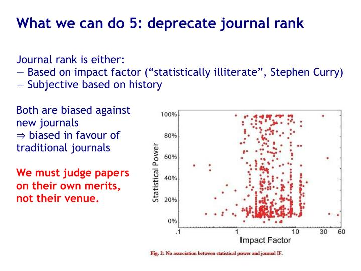 What we can do 5: deprecate journal rank