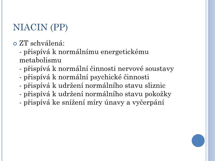 NIACIN (PP)