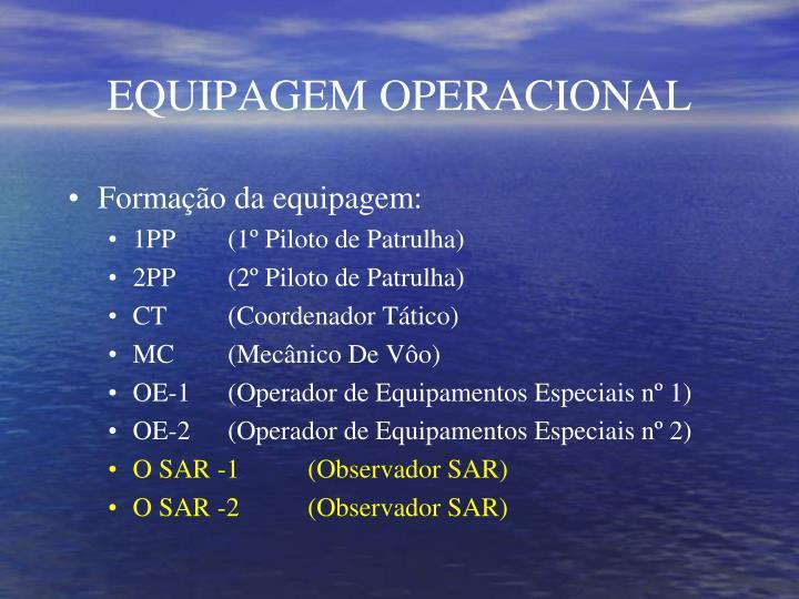EQUIPAGEM OPERACIONAL
