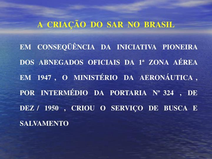 A  CRIAÇÃO  DO  SAR  NO  BRASIL