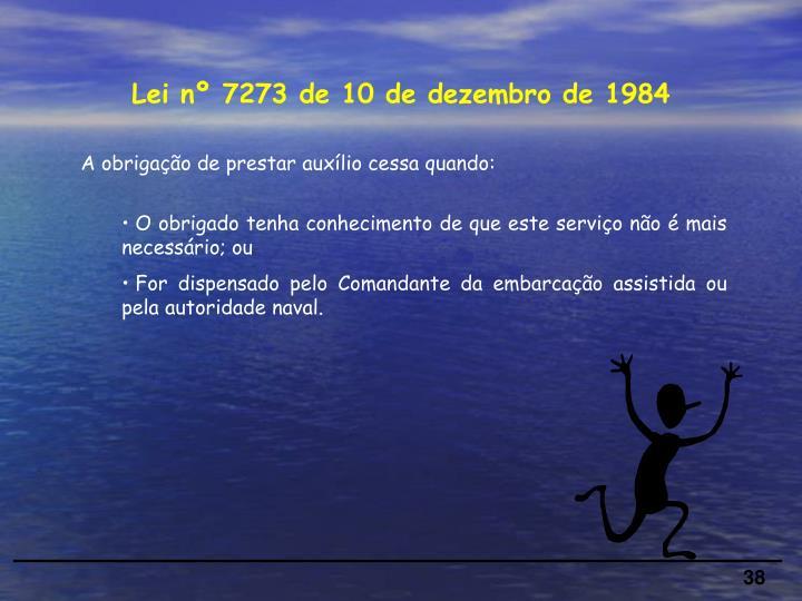 Lei nº 7273 de 10 de dezembro de 1984