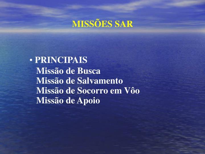 MISSÕES SAR