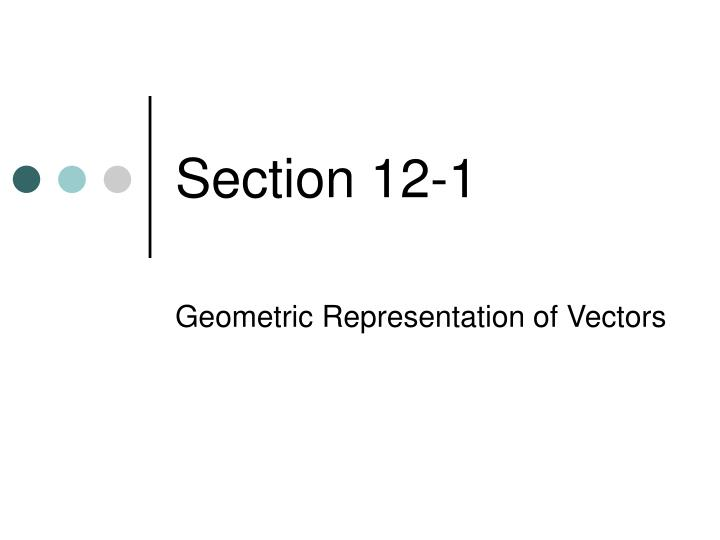 Section 12-1