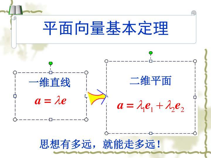 平面向量基本定理