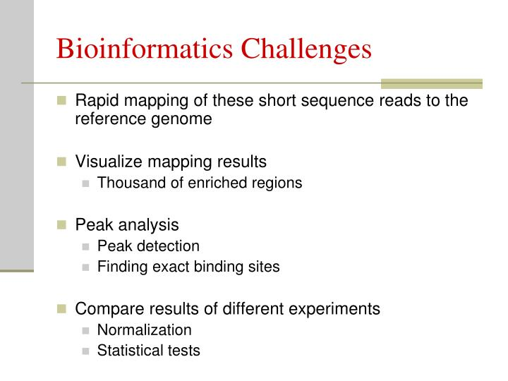 Bioinformatics Challenges