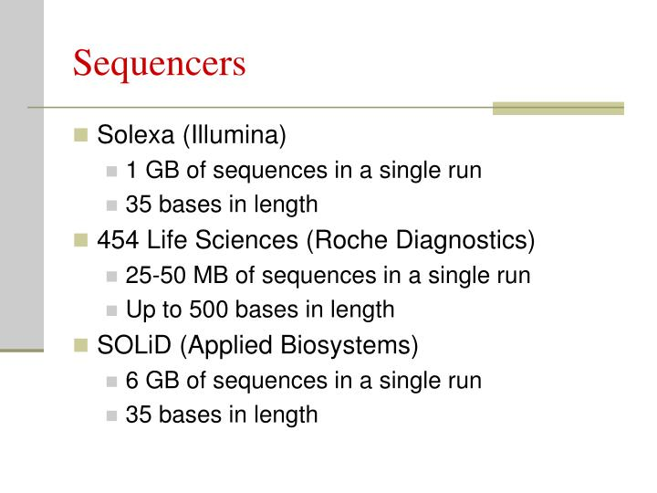 Sequencers