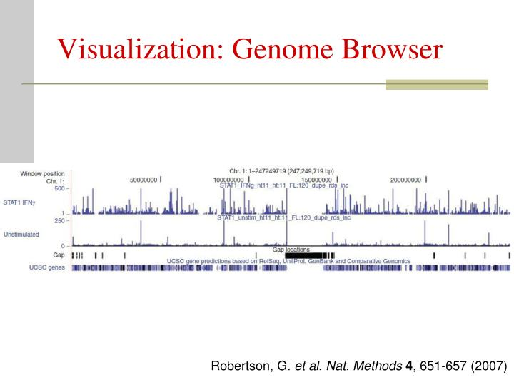 Visualization: Genome Browser