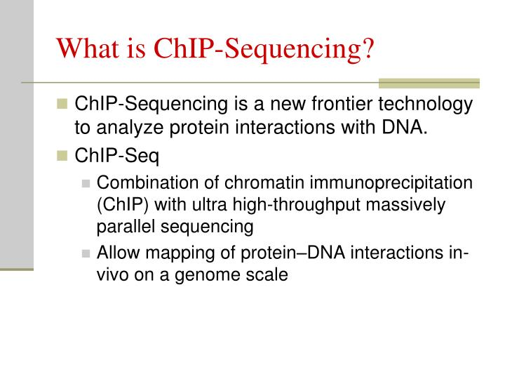 What is chip sequencing