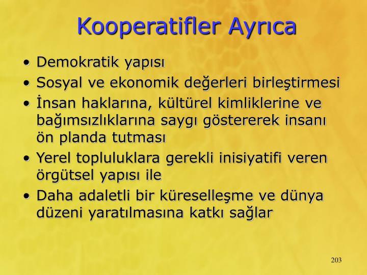 Kooperatifler Ayrca