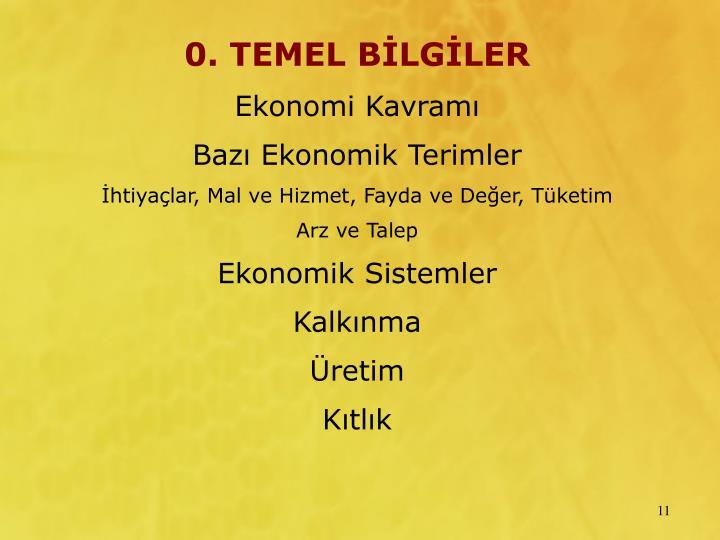0. TEMEL BLGLER