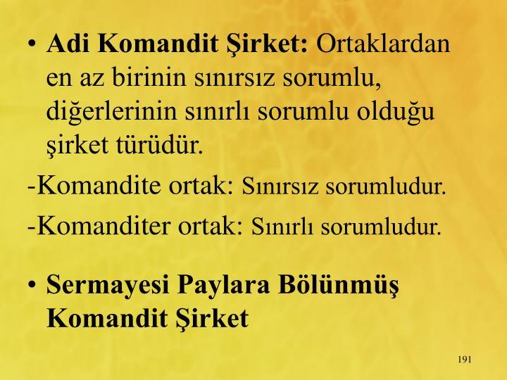Adi Komandit irket: