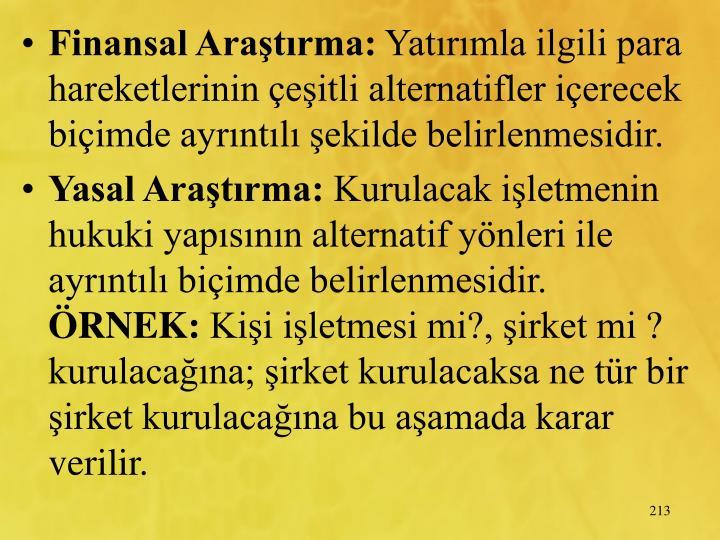 Finansal Aratrma: