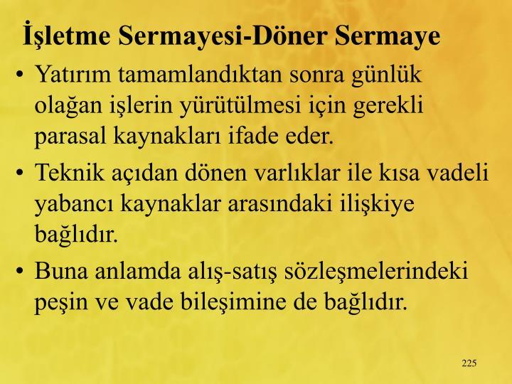 letme Sermayesi-Dner Sermaye