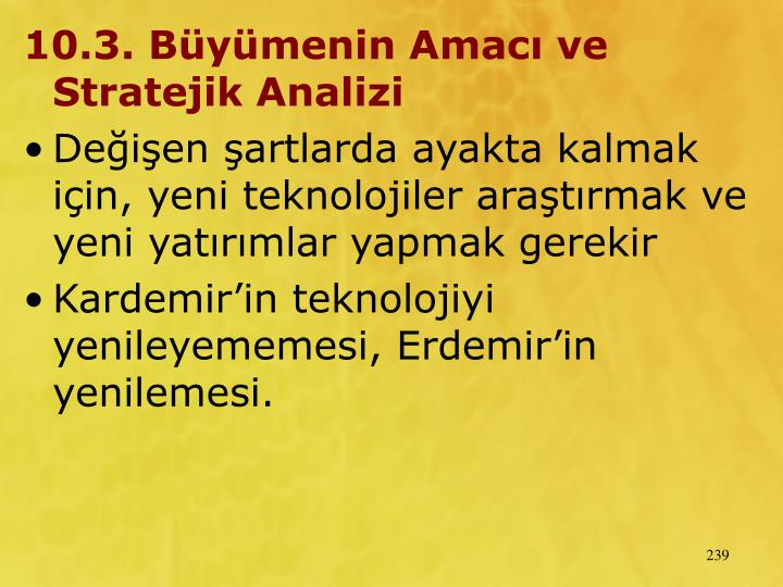 10.3. Bymenin Amac ve Stratejik Analizi