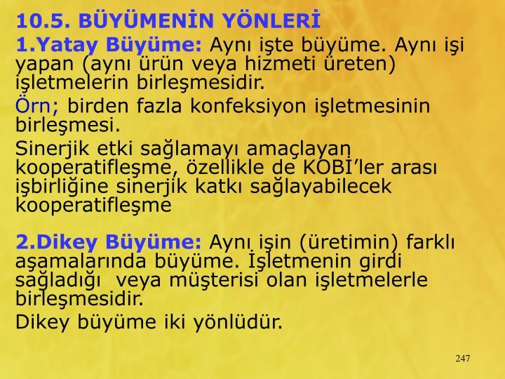 10.5. BYMENN YNLER