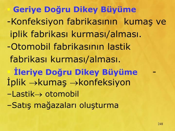 Geriye Doru Dikey Byme