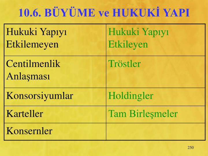 10.6. BYME ve HUKUK YAPI