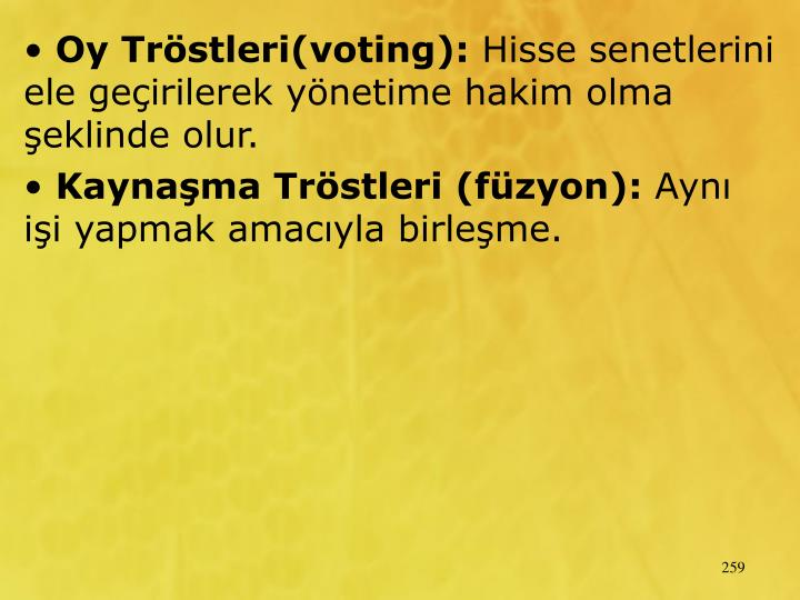 Oy Trstleri(voting):