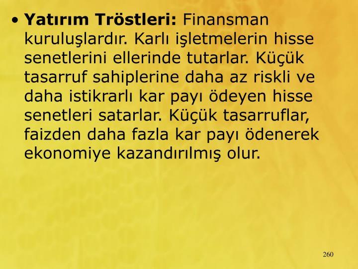Yatrm Trstleri: