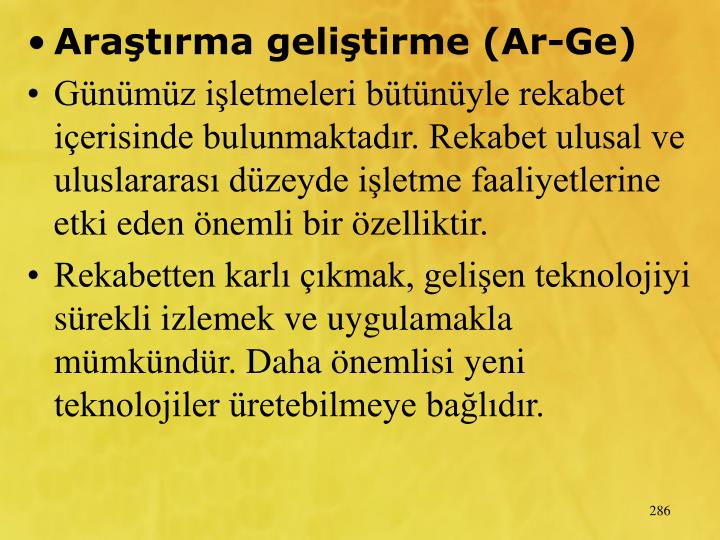 Aratrma gelitirme (Ar-Ge)