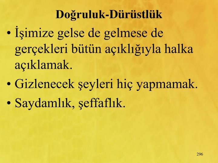 Doruluk-Drstlk