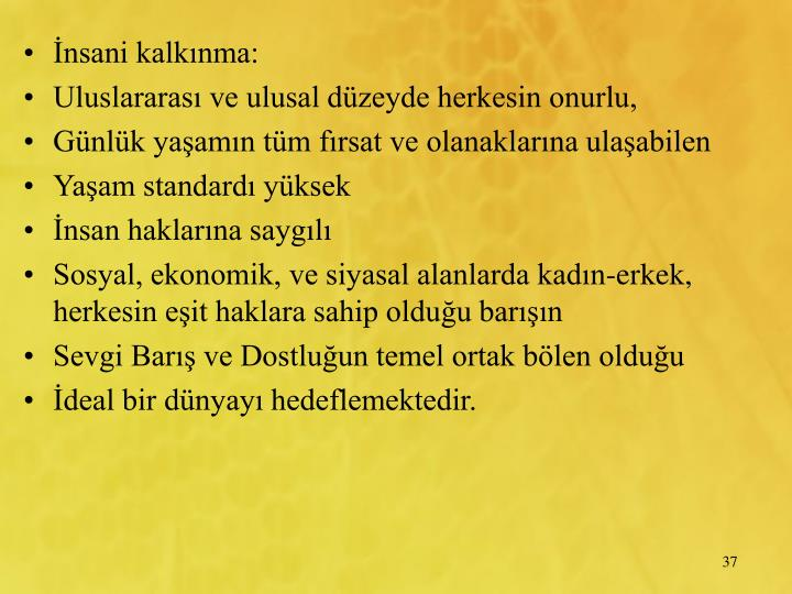 nsani kalknma: