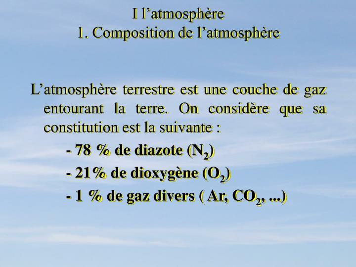 I l'atmosphère
