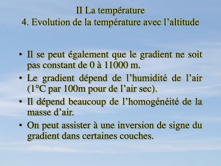 II La température