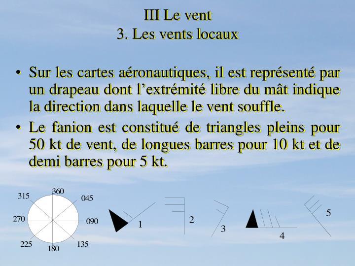 III Le vent