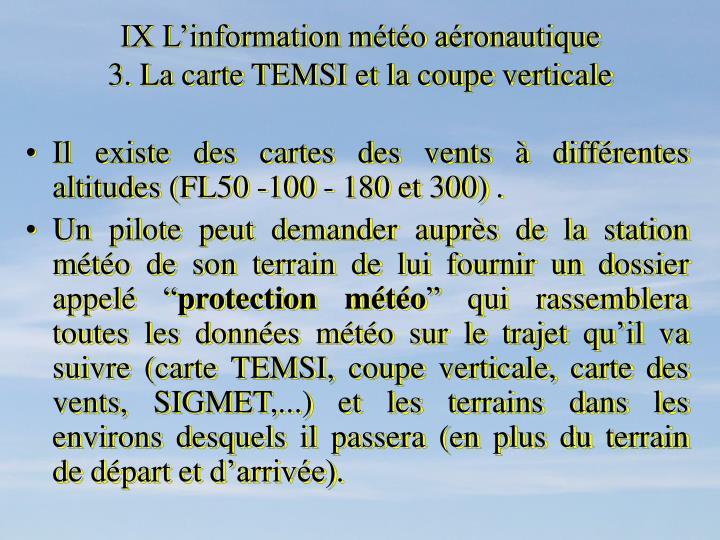 IX L'information météo aéronautique