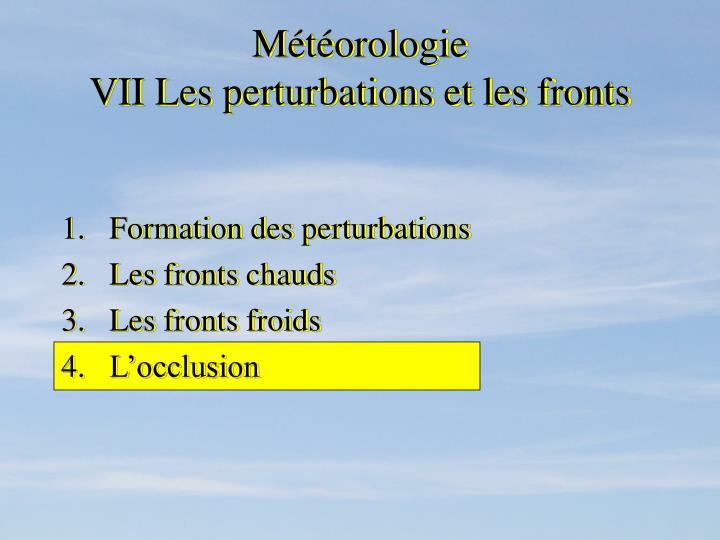 Météorologie