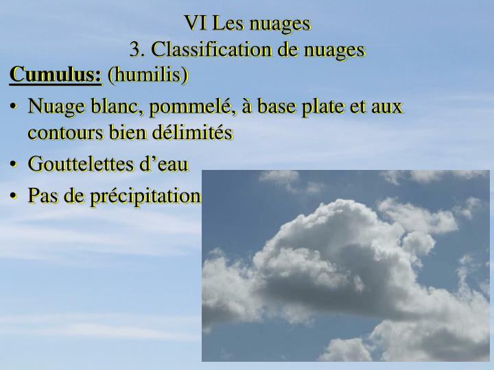 VI Les nuages