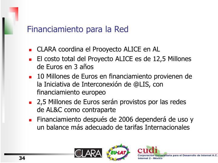 Financiamiento para la Red