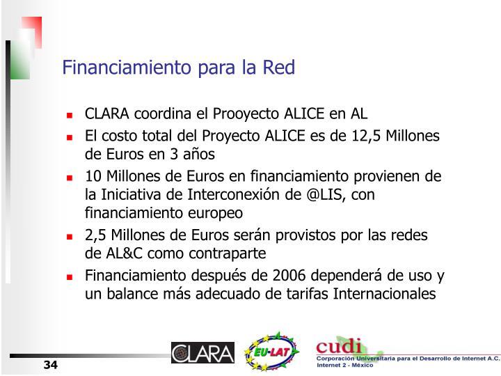 Financiamiento para la Red