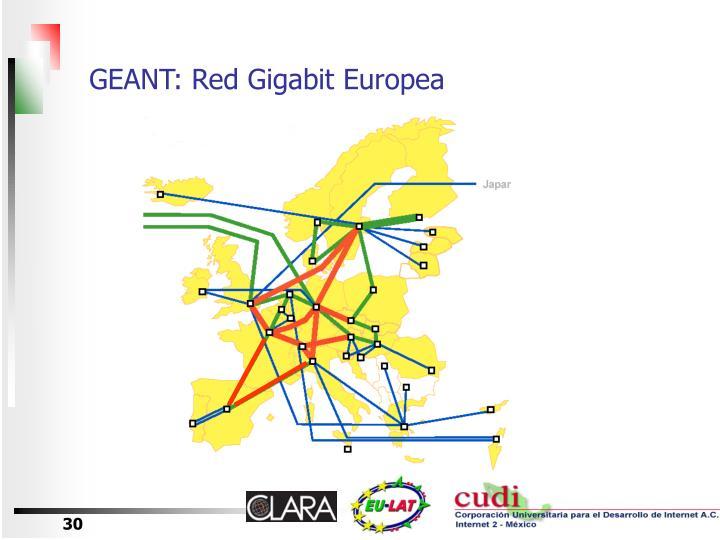GEANT: Red Gigabit Europea