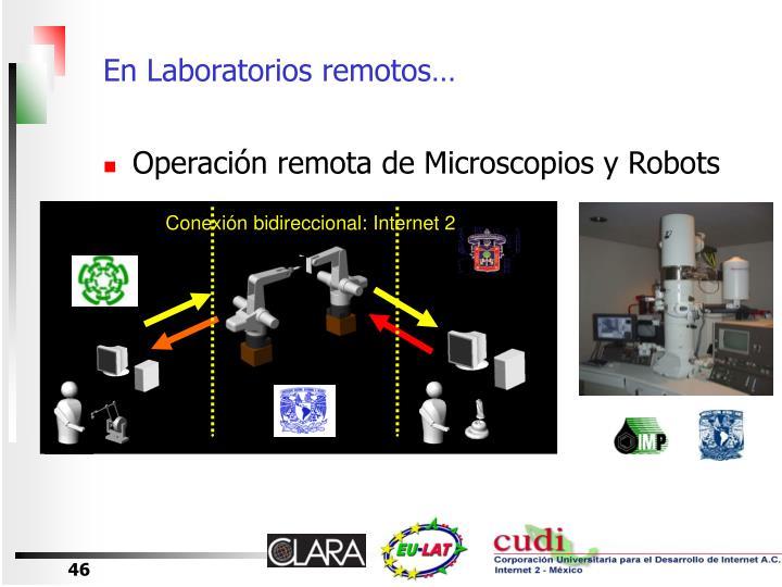 En Laboratorios remotos…