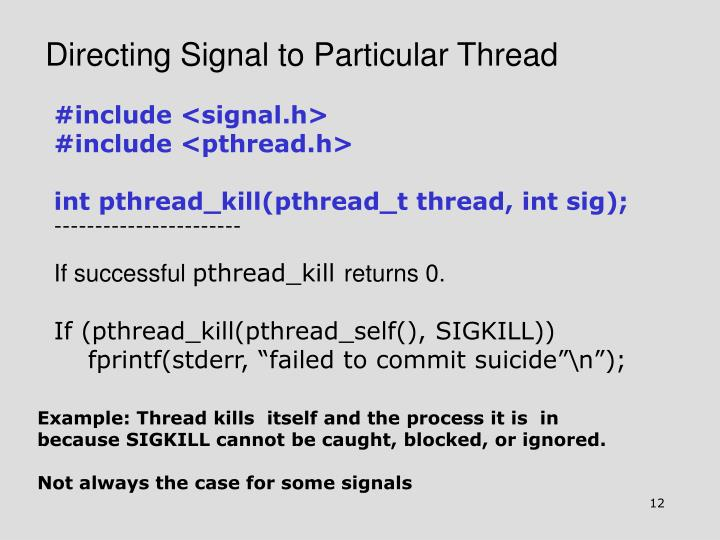 Directing Signal to Particular Thread