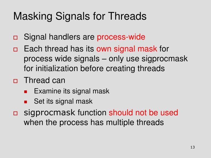 Masking Signals for Threads