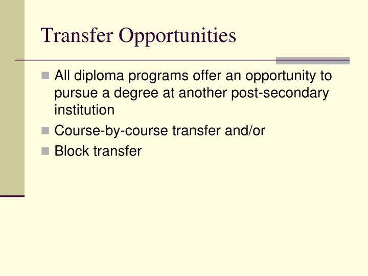 Transfer Opportunities