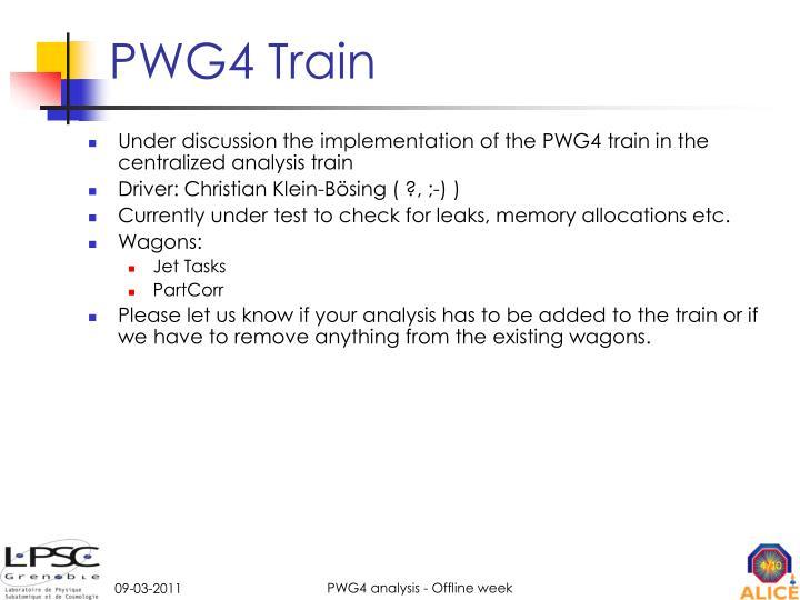 PWG4 Train