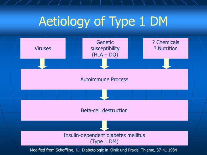 Aetiology of Type 1 DM