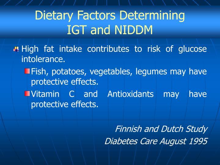 Dietary Factors Determining