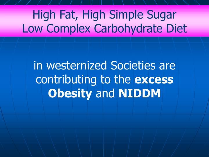 High Fat, High Simple Sugar