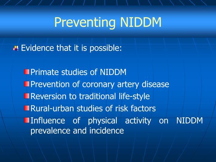 Preventing NIDDM