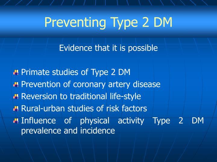 Preventing Type 2 DM