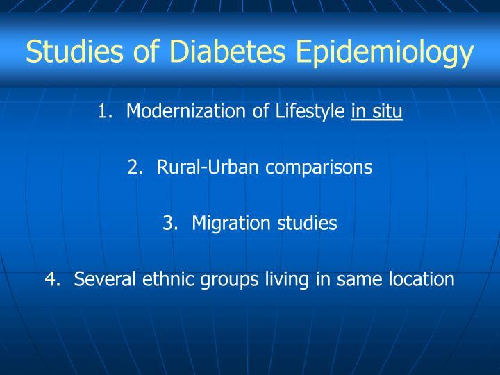 Studies of Diabetes Epidemiology